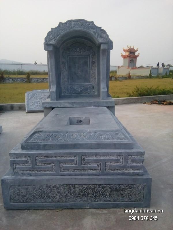 Mẫu mộ đá bành xanh chất lượng cao giá rẻ thiết kế đơn giản
