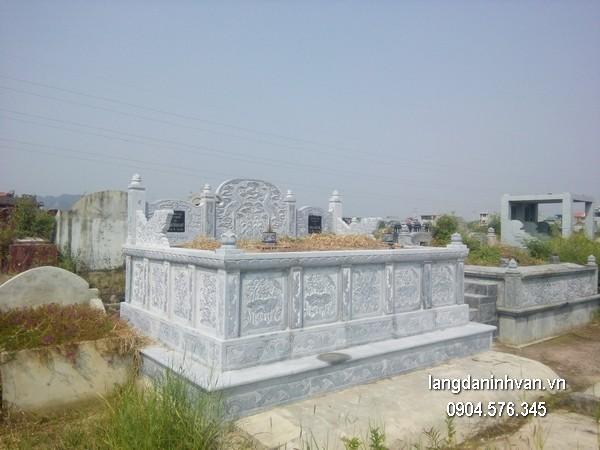 Mẫu mộ đá bành xanh chất lượng cao giá tốt thiết kế hiện đại