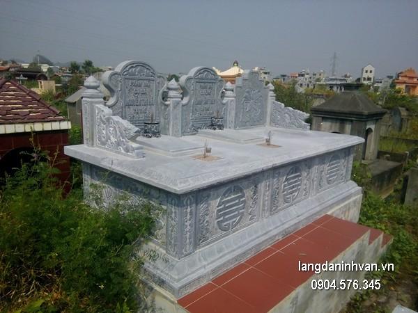 Mẫu mộ đá bành xanh chất lượng cao giá tốt thiết kế cao cấp