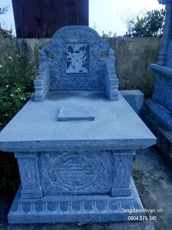 Mẫu mộ đá bành xanh chất lượng cao giá tốt thiết kế đơn giản