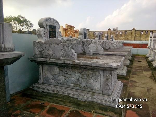 Mẫu mộ đá bành xanh chất lượng cao giá hợp lý thiết kế hiện đại
