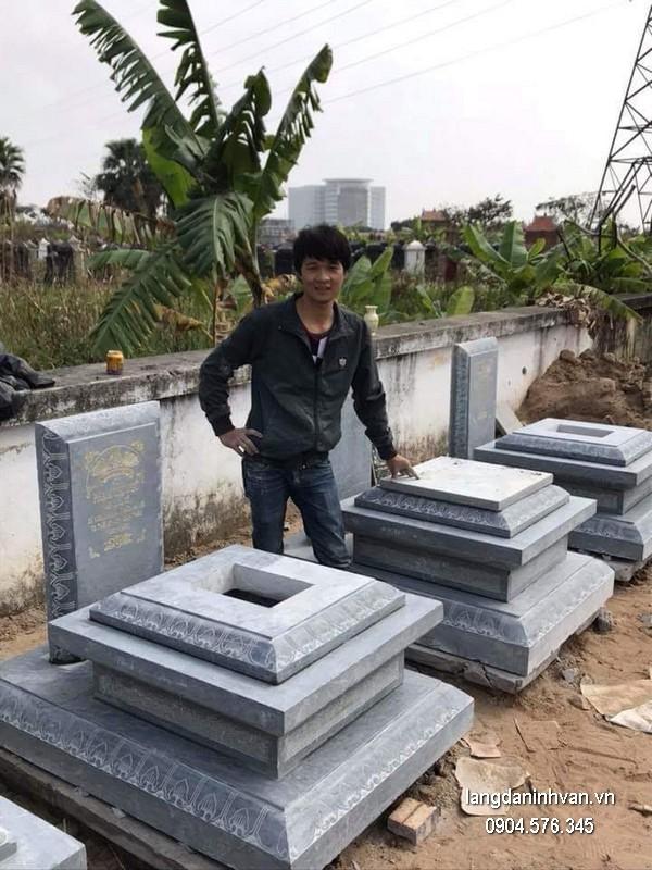 Mẫu mộ đá xanh khối đẹp nhất giá rẻ thiết kế cao cấp