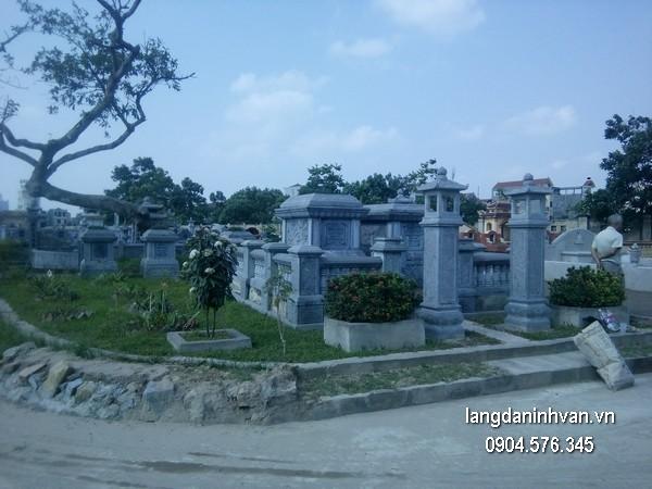 Mẫu mộ đá xanh khối đẹp nhất giá tốt thiết kế hiện đại