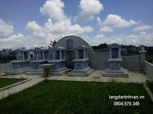 Mẫu mộ đá xanh khối đẹp nhất giá tốt thiết kế cao cấp
