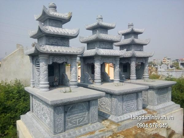Mộ đá ba mái đẹp nhất chất lượng tốt giá tốt thiết kế hiện đại