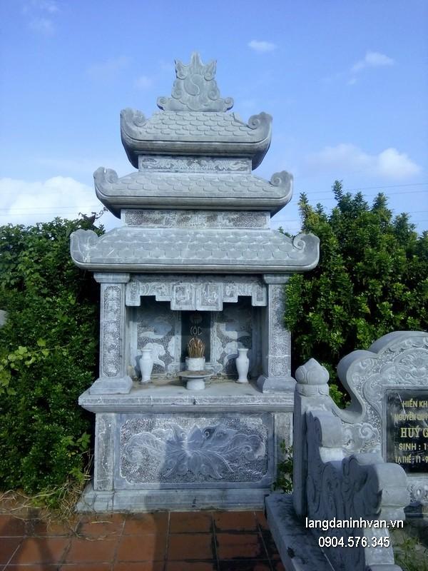 Mẫu mộ đá ba mái đẹp nhất giá tốt thiết kế cao cấp