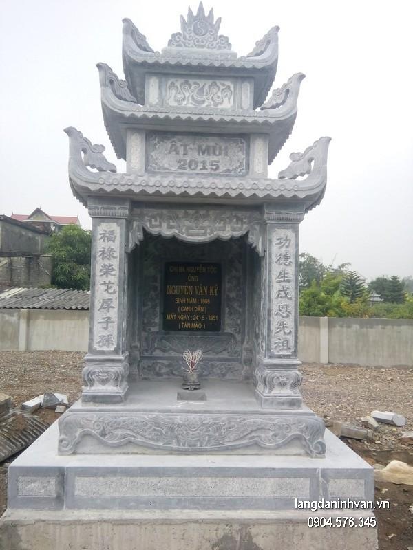 Mẫu mộ đá ba mái đẹp nhất giá hợp lý thiết kế cao cấp