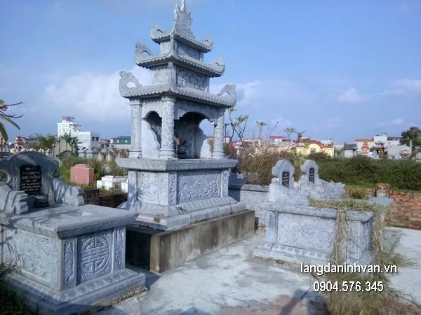 Mẫu mộ đá ba mái đẹp nhất chất lượng tốt giá rẻ thiết kế hiện đại