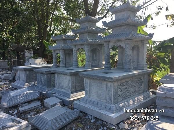Mẫu mộ đá ba mái khối đẹp giá rẻ thiết kế cao cấp