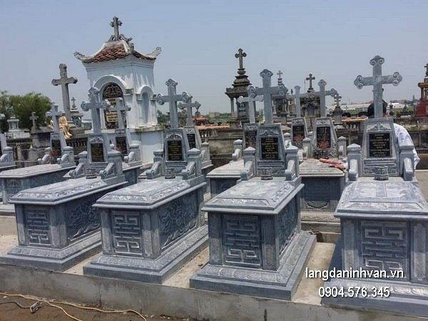 Mẫu mộ đá công giáo khối chất lượng tốt giá rẻ thiết kế cao cấp