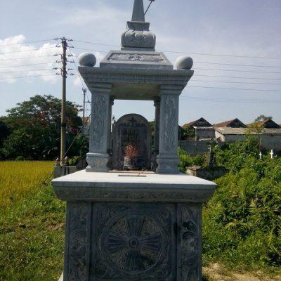 Mẫu mộ đá công giáo khối chất lượng tốt giá rẻ thiết kế đơn giản