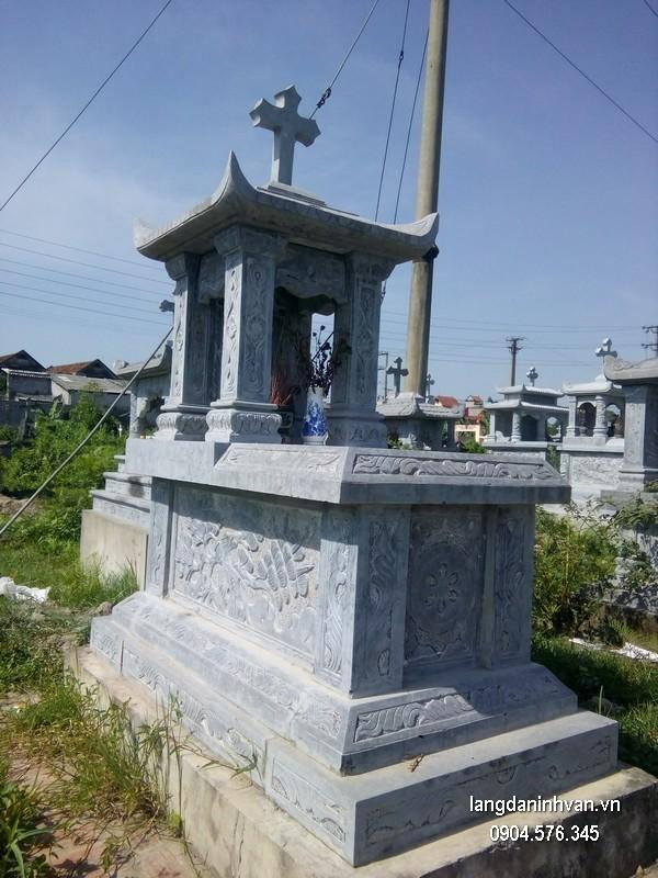 Mẫu mộ đá công giáo khối chất lượng tốt giá tốt thiết kế hiện đại