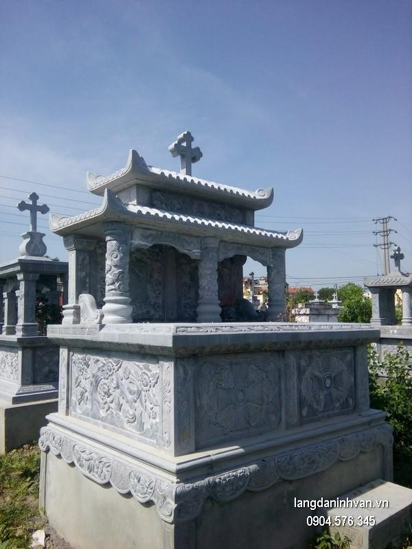 Mẫu mộ đá công giáo khối chất lượng tốt giá tốt thiết kế cao cấp