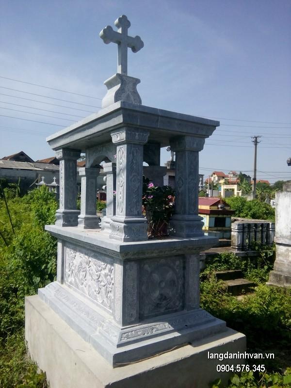 Mẫu mộ đá công giáo khối chất lượng tốt giá tốt thiết kế đơn giản