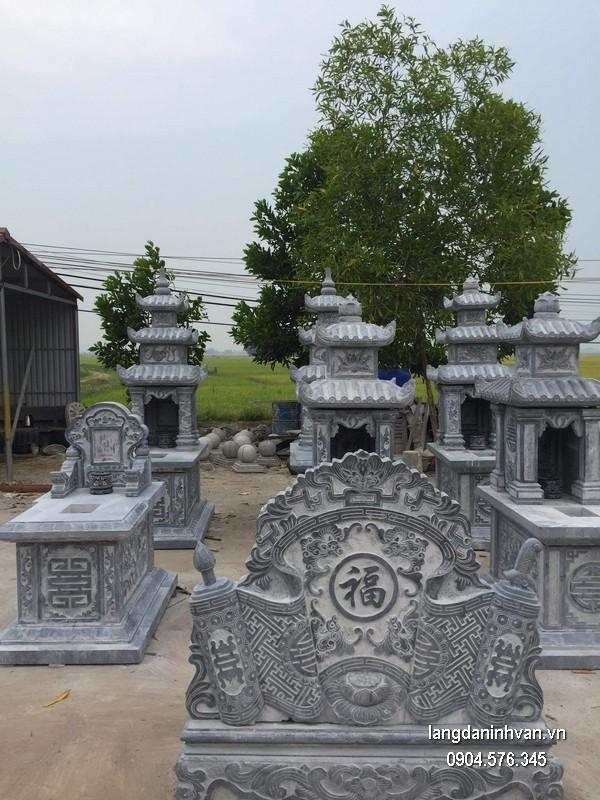 Mộ đá hai mái chất lượng cao giá tốt thiết kế hiện đại