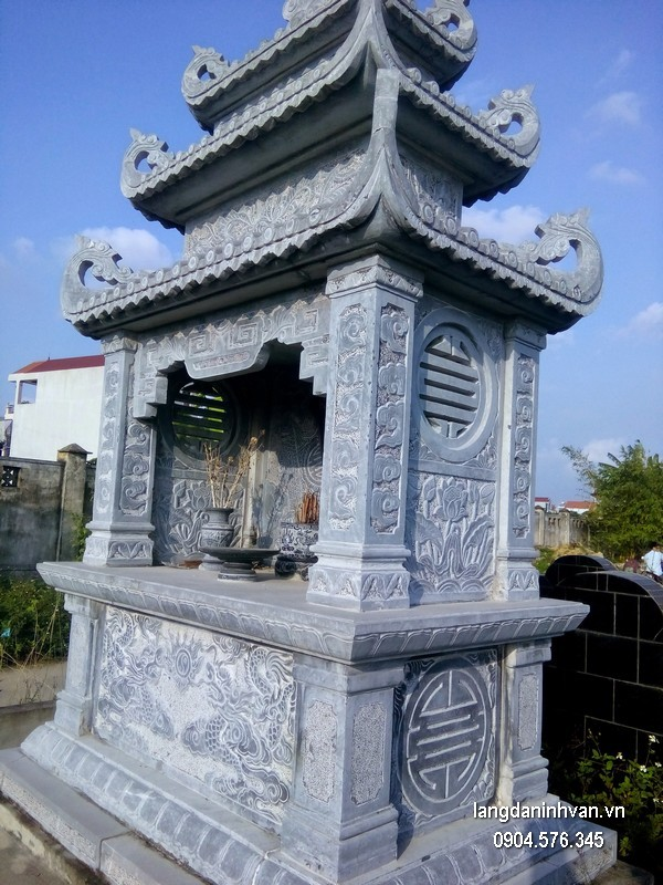 Mẫu mộ đá hai mái đẹp nhất chất lượng cao giá hợp lý thiết kế hiện đại