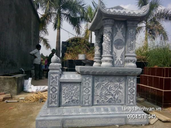 Mẫu mộ đá một mái đẹp chất lượng cao giá hợp lý thiết kế đơn giản
