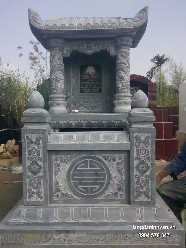 Mẫu mộ đá một mái đẹp chất lượng tốt giá rẻ thiết kế hiện đại