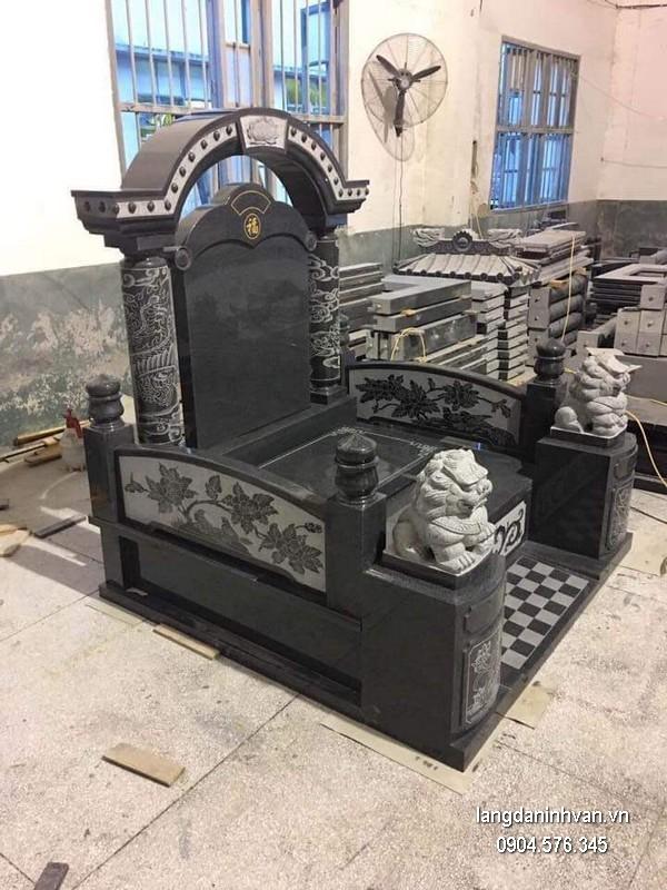 Mẫu mộ đá một mái đẹp chất lượng tốt giá rẻ thiết kế cao cấp