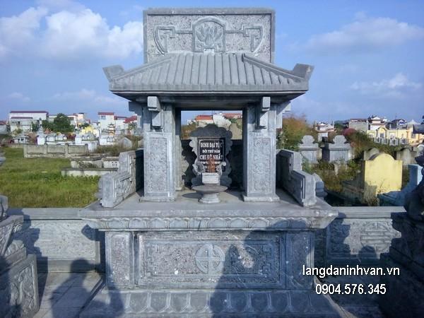 Mẫu mộ đá xanh đẹp chất lượng tốt giá rẻ thiết kế đơn giản
