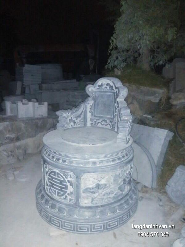 Mộ đá tròn khối đẹp chất lượng cao giá rẻ thiết kế cao cấp