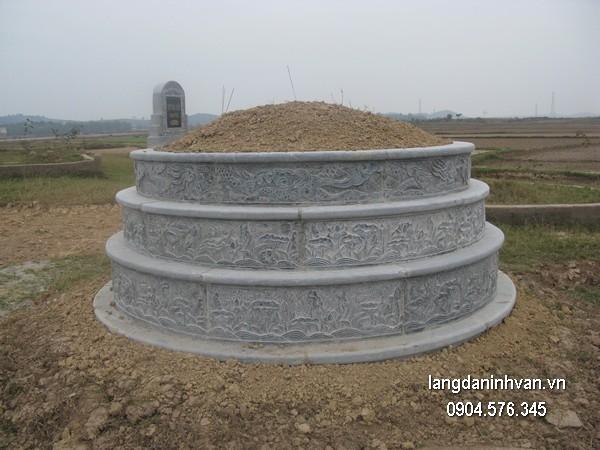 Mộ đá tròn khối đẹp chất lượng cao giá tốt thiết kế hiện đại