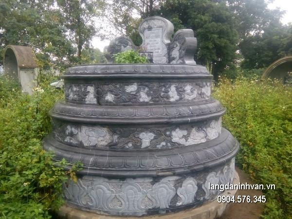 Mộ đá tròn khối đẹp chất lượng cao giá tốt thiết kế cao cấp