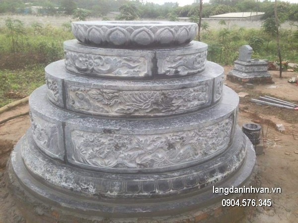Mẫu mộ đá tròn khối chất lượng tốt giá hợp lý thiết kế hiện đại