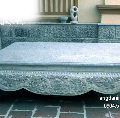 Sập đá xanh chạm khắc tinh xảo chất lượng cao giá hợp lý