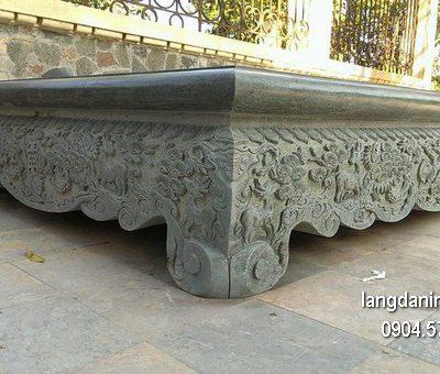 Sập đá xanh chạm khắc tinh xảo chất lượng tốt giá rẻ
