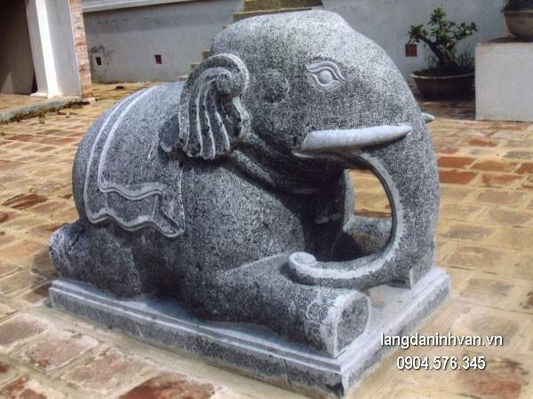 Tượng voi đá phong thủy đẹp chất lượng cao giá tốt