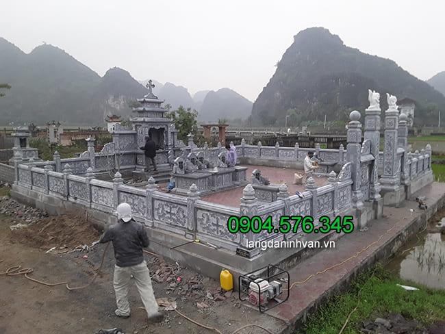 Lăng mộ đá đẹp nhất của cơ sở đá mỹ nghệ Hải An