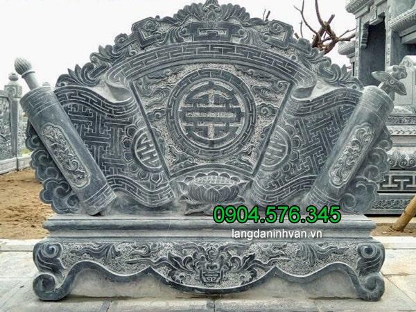 Cuốn thư đá lăng mộ đá ninh vân ninh bình