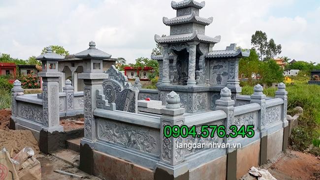 Lăng mộ đá xanh ninh Bình - Một trong những mẫu lăng mộ đá chúng tôi đã thi công lắp đặt tại Đồng Nai