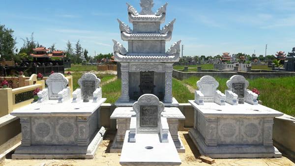 Khu lăng mộ bằng đá đẹp, một tronh những khu lăng mộ do Đá mỹ nghệ Ninh Vân chế tác và lắp đặt