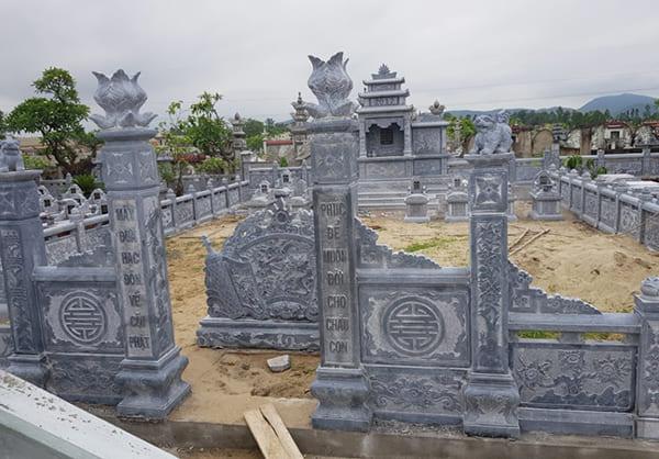Kiến trúc kích thước bên ngoài khu lăng mộ đá Ninh Vân Ninh Bình