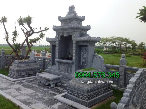 Lăng mộ bằng đá xanh nguyên khối ninh vân ninh bình