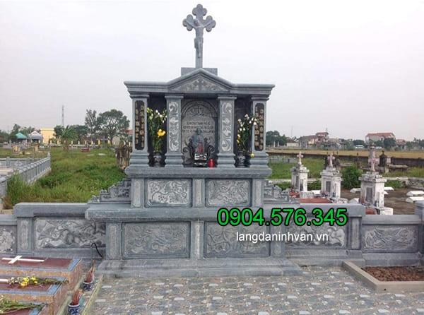 Mẫu lăng mộ đá công giáo ninh vân ninh bình
