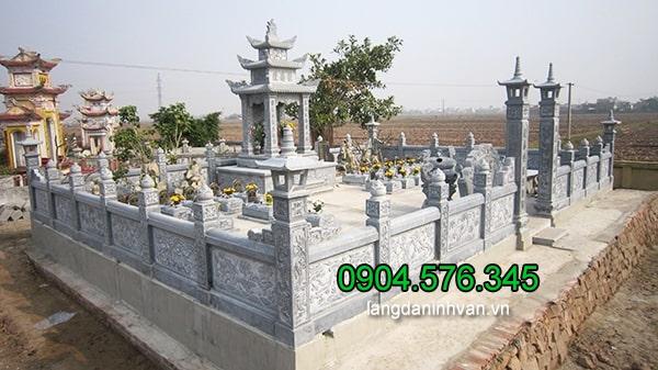 Mẫu khu lăng mộ bằng đá xanh nguyên khối ninh vân ninh bình đẹp nhất