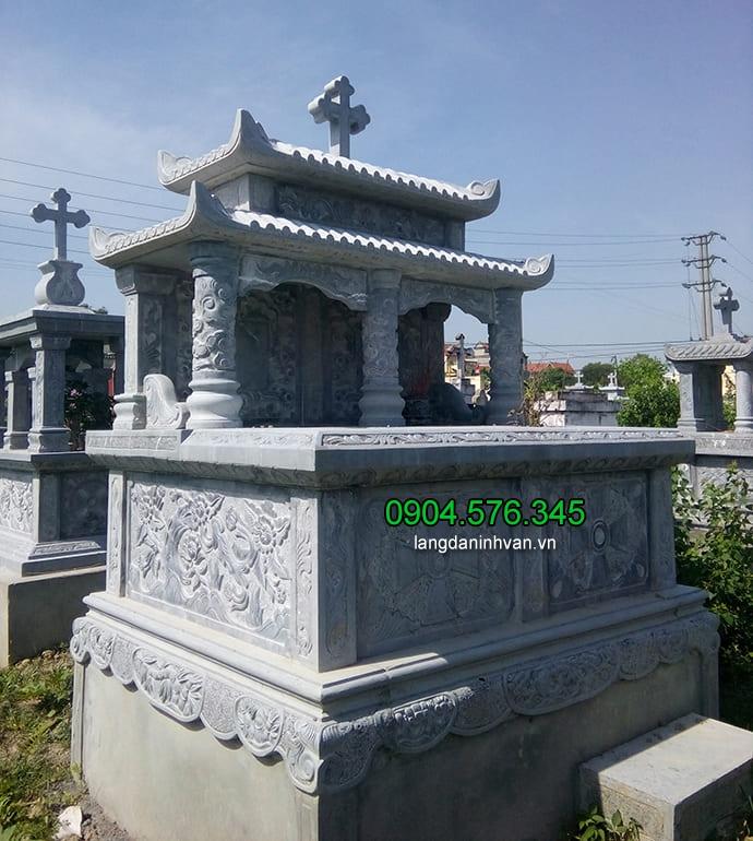 Hình ảnh mẫu đôi bằng đá xanh cho người theo đạo thiên chúa