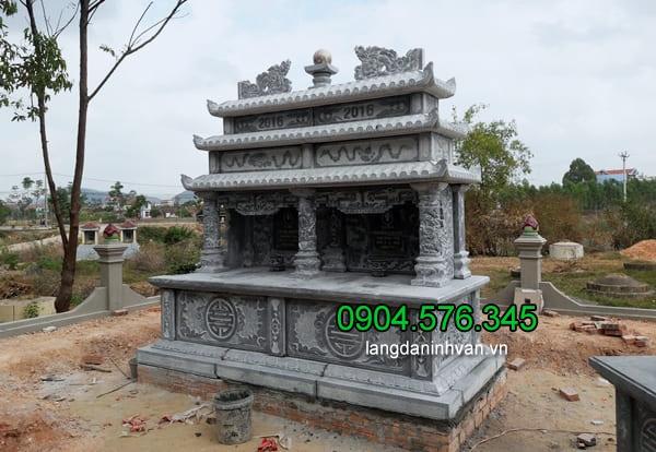 Hình ảnh mộ bằng đá đẹp kiểu thiết kế mộ đôi