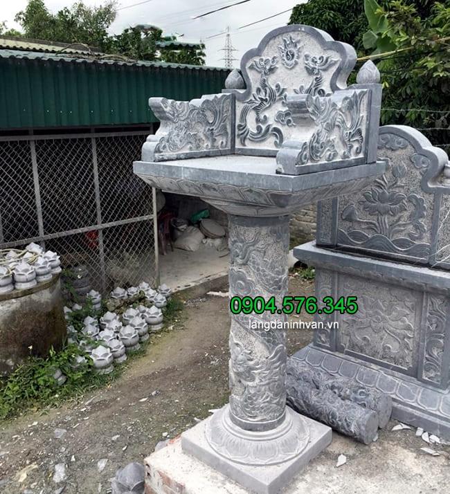 Mẫu bàn thờ thiên ngoài trời bằng đá đẹp nhất kích thước hợp phong thủy