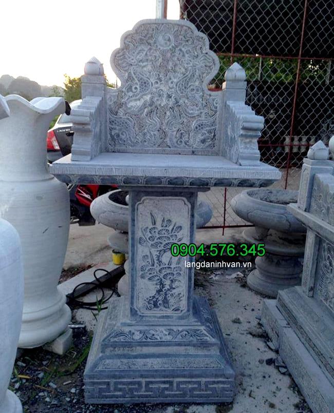 Mẫu bàn thờ ông thiên ngoài trời bằng đá đẹp nhất kích thước hợp phong thủy của Đá mỹ nghệ Ninh Vân