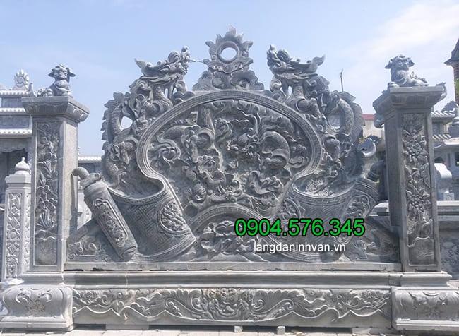 Các mẫu cuốn thư bằng đá đẹp chấn phong thủy cho nhà thờ, chùa, khu lăng mộ