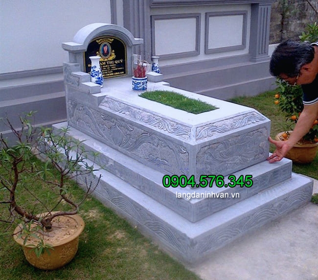 Mẫu mộ đá tam cấp đẹp thiết kế cao cấp chất lượng cao giá rẻ