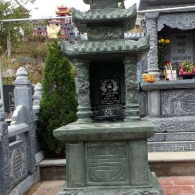 Mẫu mộ đá xanh rêu đẹp chuẩn phong thủy chất lượng cao giá tốt