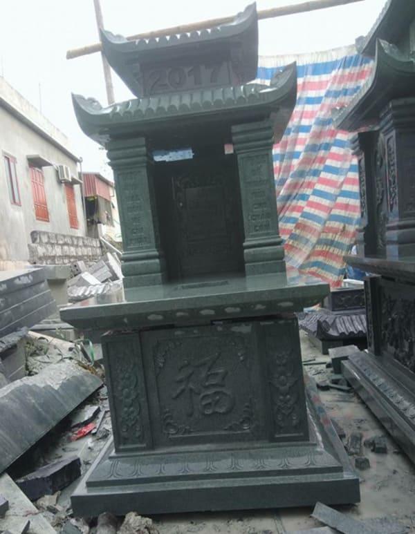 Mẫu mộ đá xanh rêu đẹp chuẩn phong thủy chất lượng tốt giá hợp lý