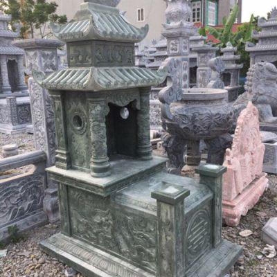 Mẫu mộ đá xanh rêu đẹp chuẩn phong thủy chất lượng tốt giá tốt