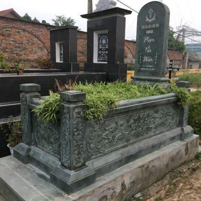 Mẫu mộ đá xanh rêu đẹp hợp phong thủy chất lượng cao giá rẻ