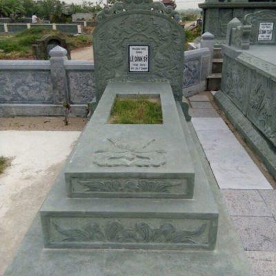 Mẫu mộ đá xanh rêu đẹp hợp phong thủy chất lượng cao giá tốt